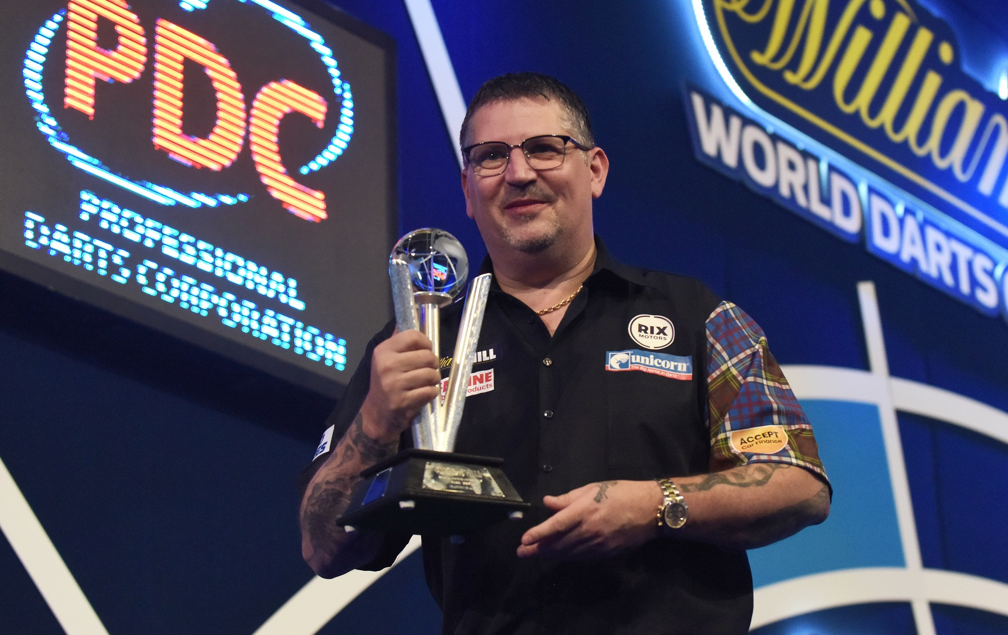 Anderson denied third World title at Ally Pally