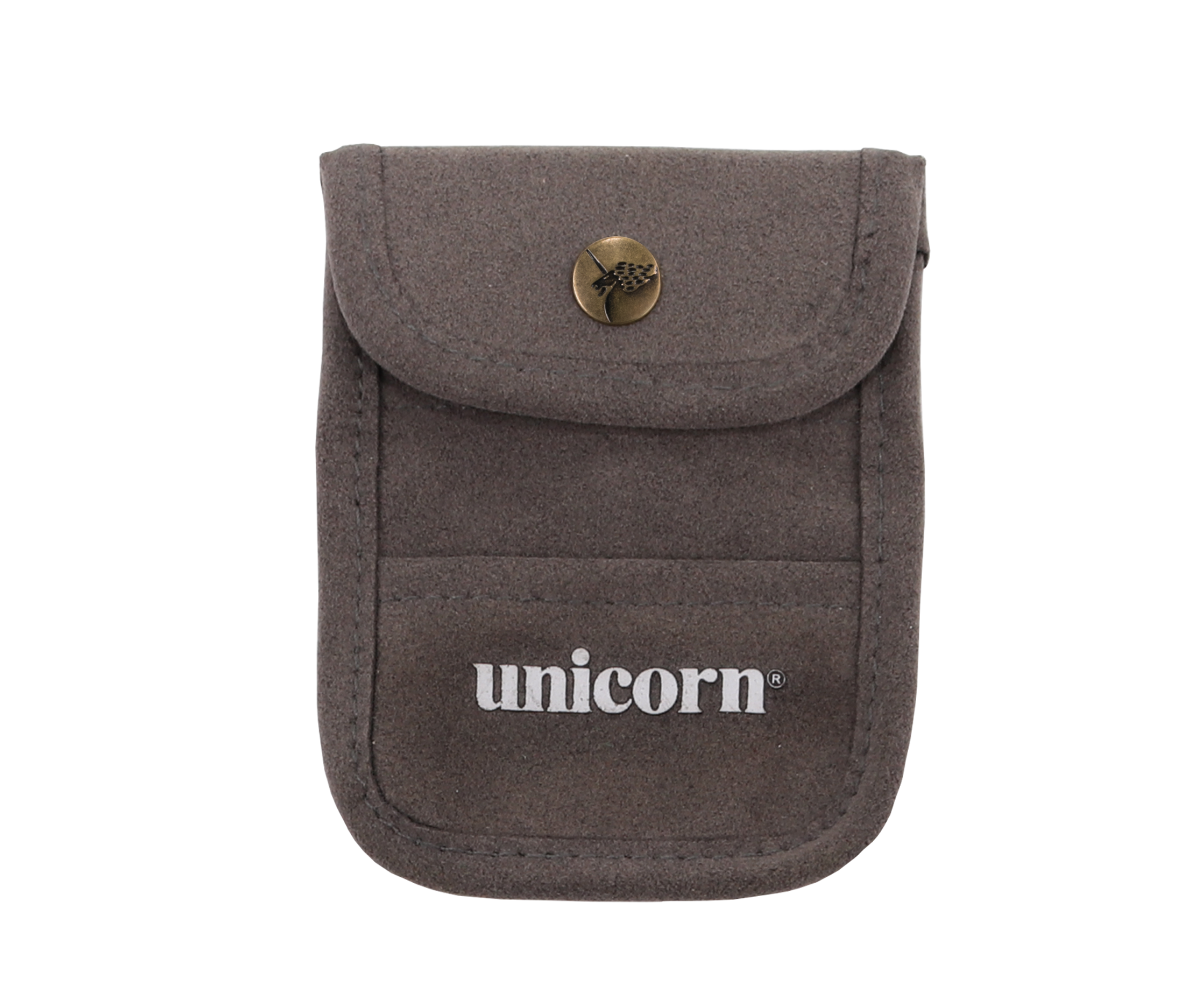 Accessory Pouch - Grey Flocked Leather