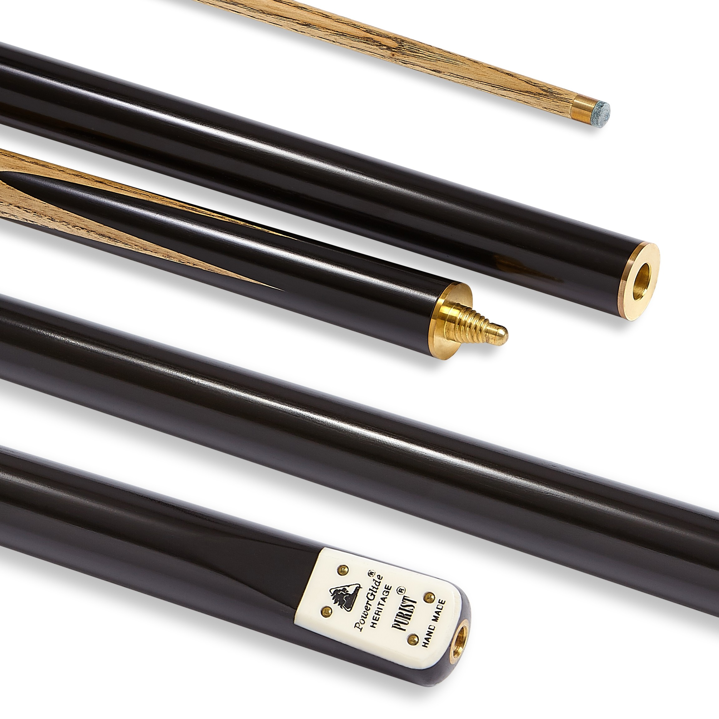 Purist Snooker Cue 3/4 Joint 9.5mm Tip