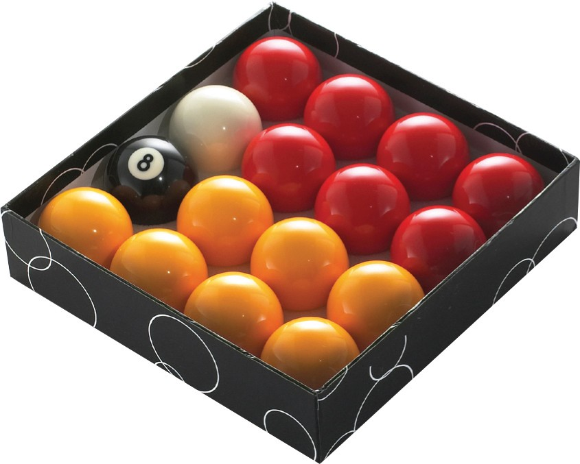 Pool Balls - Red and Yellow