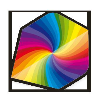 Core .75 Flight - Rainbow Swirl