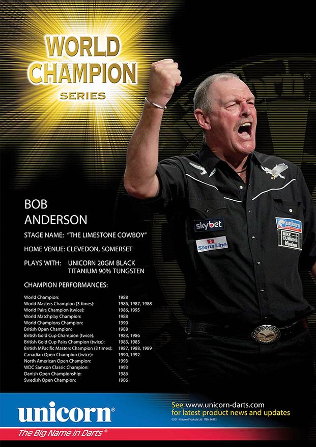 Poster - Bob Anderson World Champion