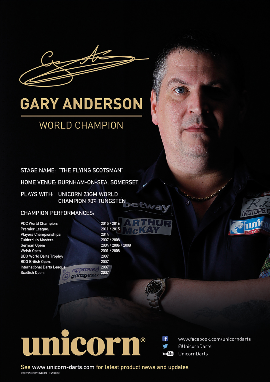 Poster - Gary Anderson World Champion