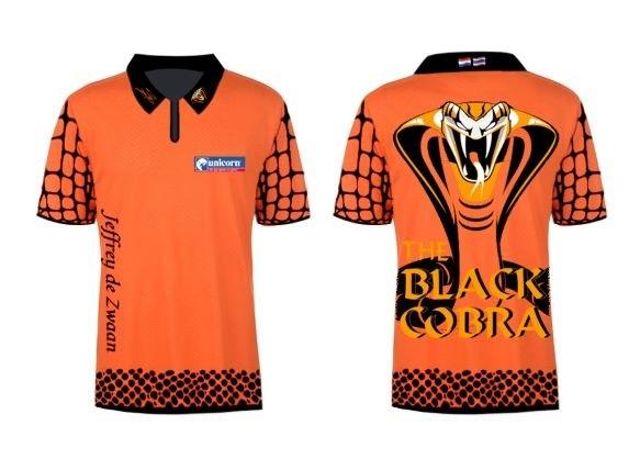 Limited Edition 2020 Premier League Jeffrey De Zwaan dart shirt