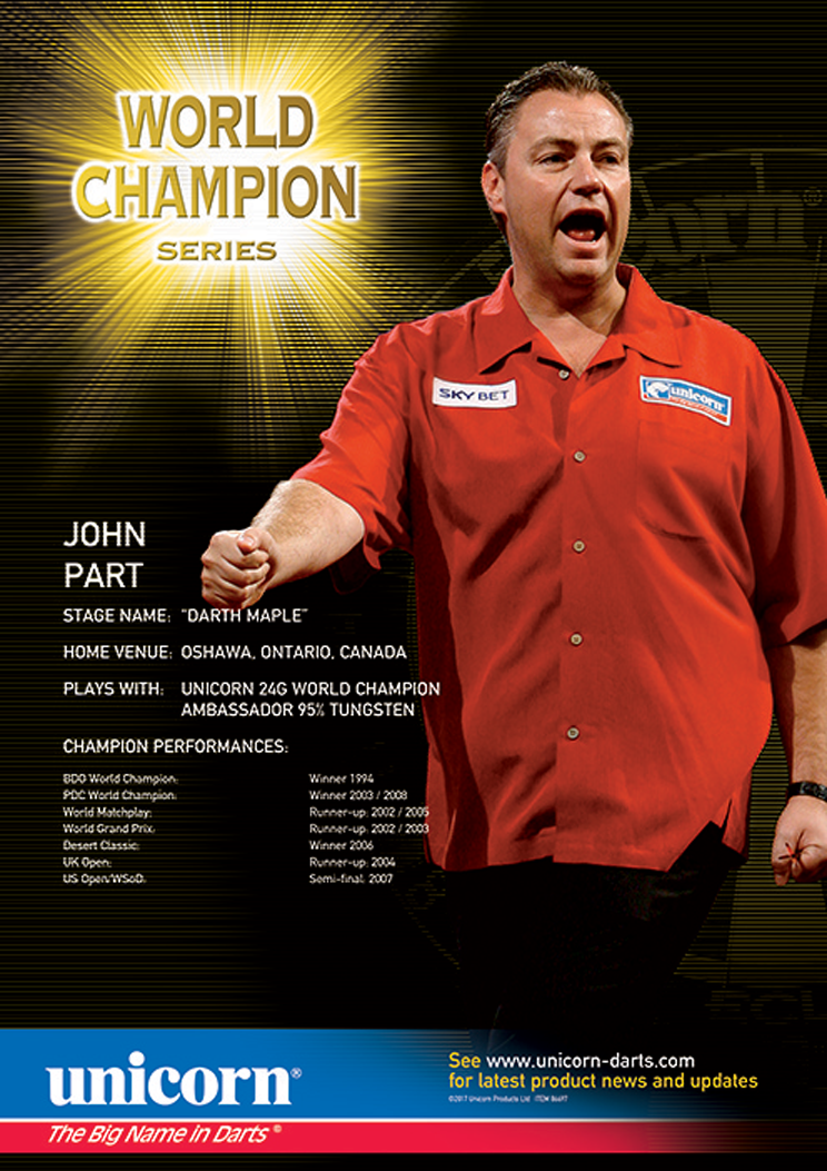 Poster - John Part World Champion