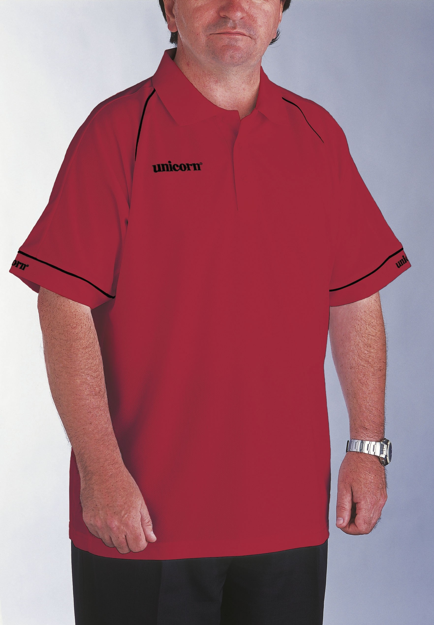 Polo Shirt Red/Black - SAVE £9!
