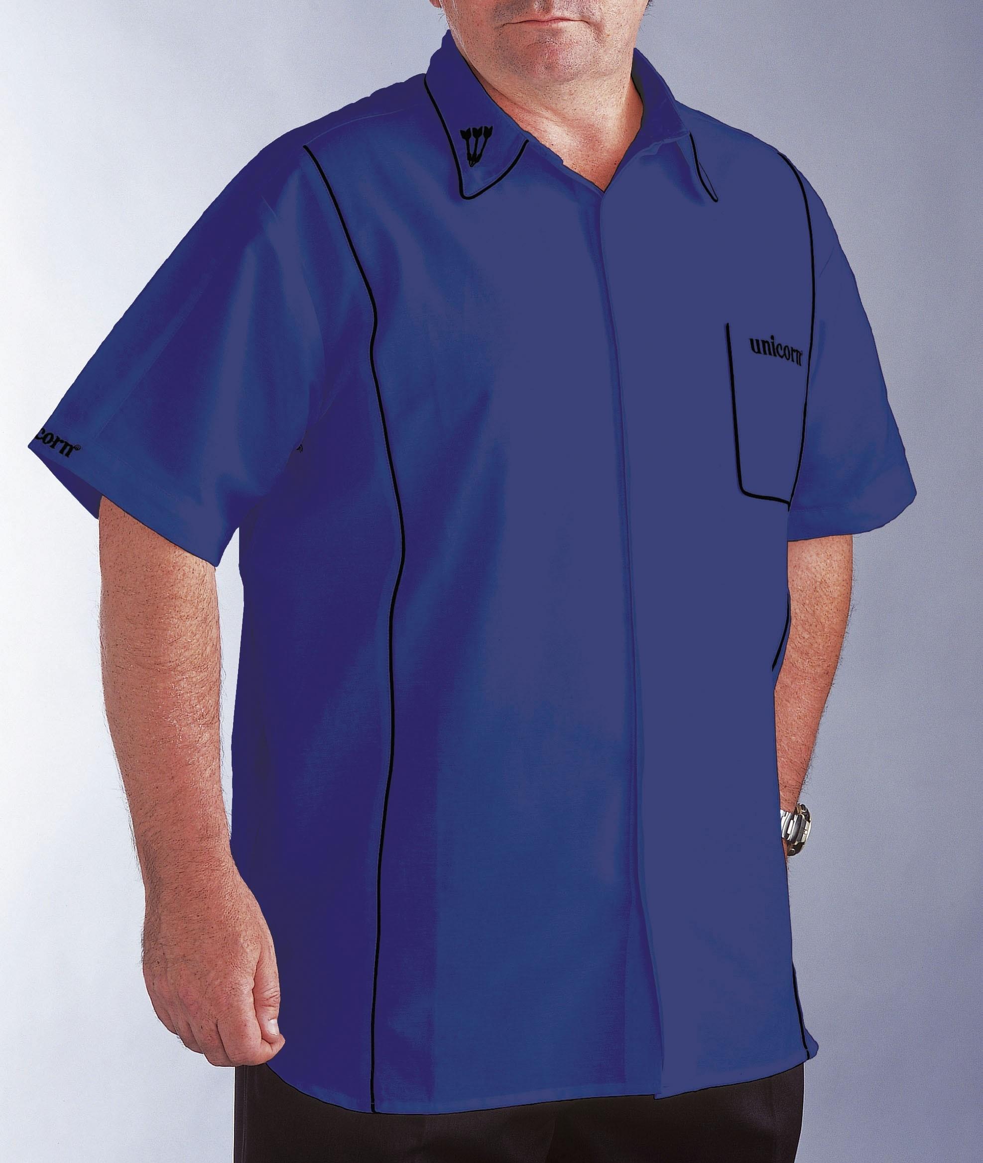 Teknik Mens Dart Shirt Blue/Black - SAVE £24!
