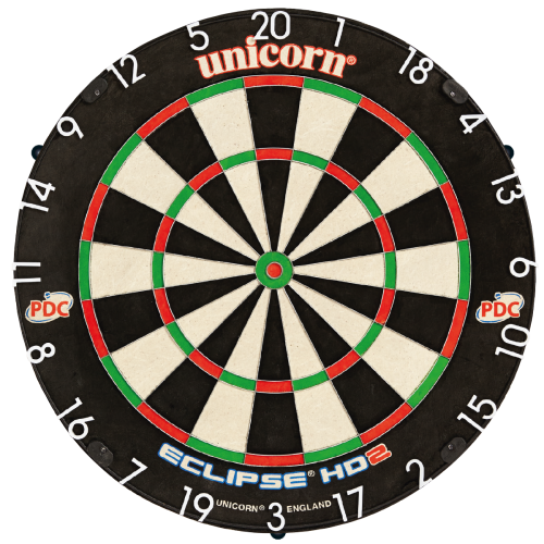 Eclipse HD2 Pro Edition PDC Dartboard - With Unilock