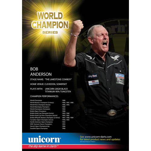 Poster - Bob Anderson World Champion