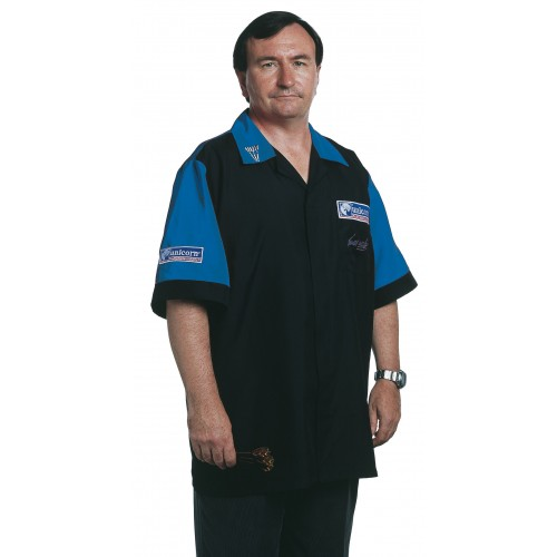 Mens Dart Shirt Black/Blue - SAVE £22!