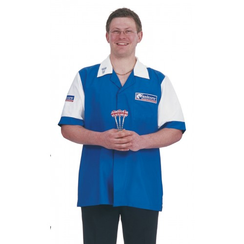 Mens Dart Shirt Blue/White - SAVE £22!