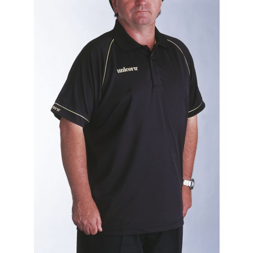 Polo Shirt Black/Gold - SAVE £9!