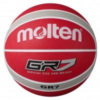 Molten BGR-WRS White Red Silver Basketball BGR7-WRS BGR6-WRS BGR5-WRS Main Front Image