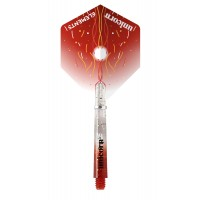 Gripper 4 Elements Two-Tone Flight & Shaft Combo Red 74705